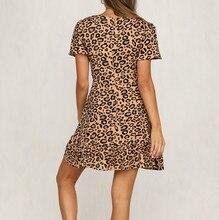 Womens Leopard Print Mini Dress Ladies Sexy Wrap dress Clubwear Party Dress ladies dress 2019 vestidos festa
