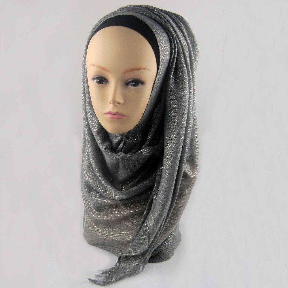 Мусульманский хиджаб мерцание шарф хиджабы блестящий шарфы мерцающий шаль, можете выбрать цвет - Цвет: color14