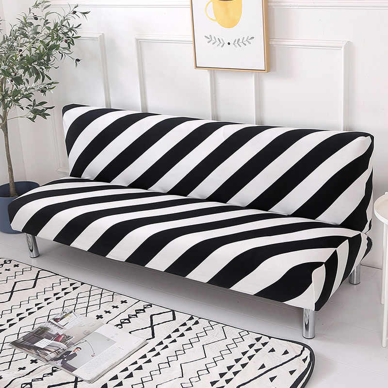 Black White Line Sofa Bed Cover Folding Chair Seat Slipcovers Stretch Covers Cheap Couch Protector Elastic Futon Bench Covers|Sofa Cover| - AliExpress