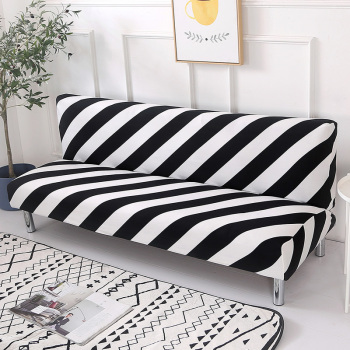 Black White Line Sofa Bed Cover Folding chair seat slipcovers stretch covers cheap Couch Protector Elastic
