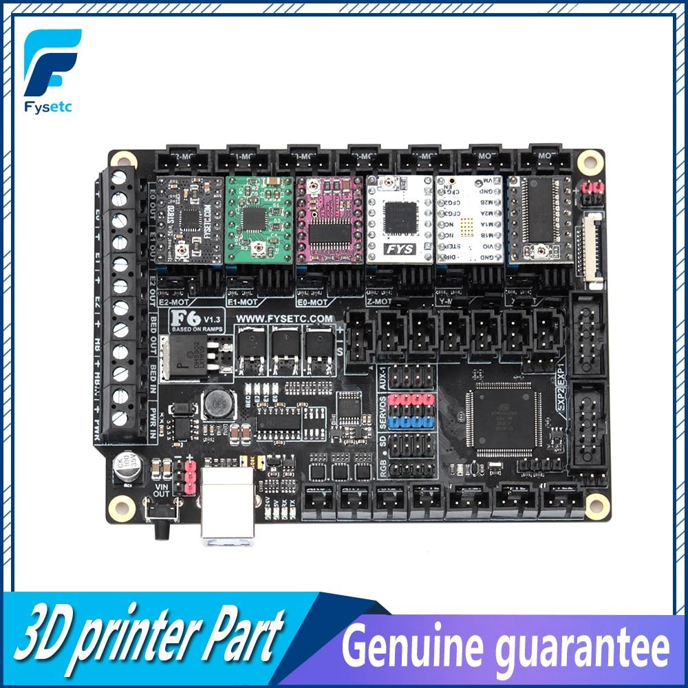 FYSETC F6 V1.3 Bordo ALL-in-one Electronics Soluzione Mainboard + 6 pz TMC2100/TMC2208/TMC2130 /DRV8825/S109/LV8729/A4988/ST820