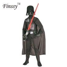 Traje de Darth Vader para niños Darth Vader mono ropa de negro con capa de  vacaciones de Navidad Cosplay para niños niñas 6c4228d379b9