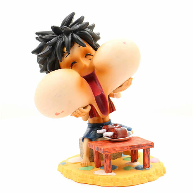 One Piece Anime Monkey D Luffy Eating Collectible Action