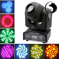 30W LED Mini Hot Stage Disco Light Moving Head Light 8 Rotary Pattern DMX512 Disco DJ