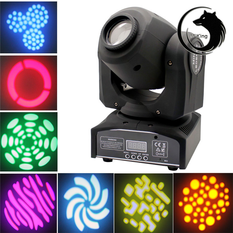 30W LED Mini Hot Stage Disco Light Moving Head Light 8 Rotary Pattern DMX512 Disco DJ KTV Bar Effect  Lamp AC110-240V 2pcs lot 10w spot moving head light dmx effect stage light disco dj lighting 10w led patterns light for ktv bar club design lamp