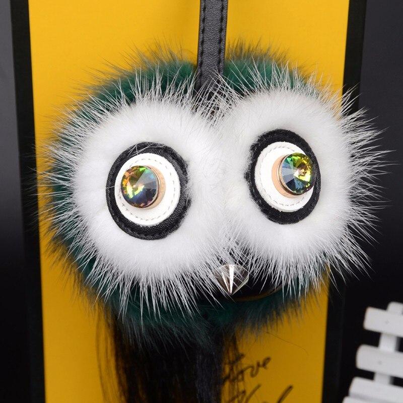 Women's Scarf Sets Official Website 2017 Fashion Little Monster Bag Charm Fur Pom Poms Luxury Pendant Fend Fur Bird Owl Monster Hat