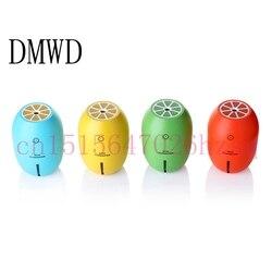 DMWD kreatywny Lemon styl ultradźwiękowy nawilżacz powietrza USB z kolorowym światłem Led OLEJEK ETERYCZNY Aroma dyfuzor Auto Off jeden przełącznik