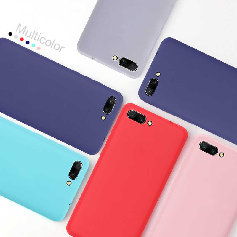 For Honor 8X Case Colorful Cute TPU Case for Huawei Honor 10 9 8 Lite 8C 6C Pro 8X Max Note 10 V9 Play Matte Soft Cover Capa