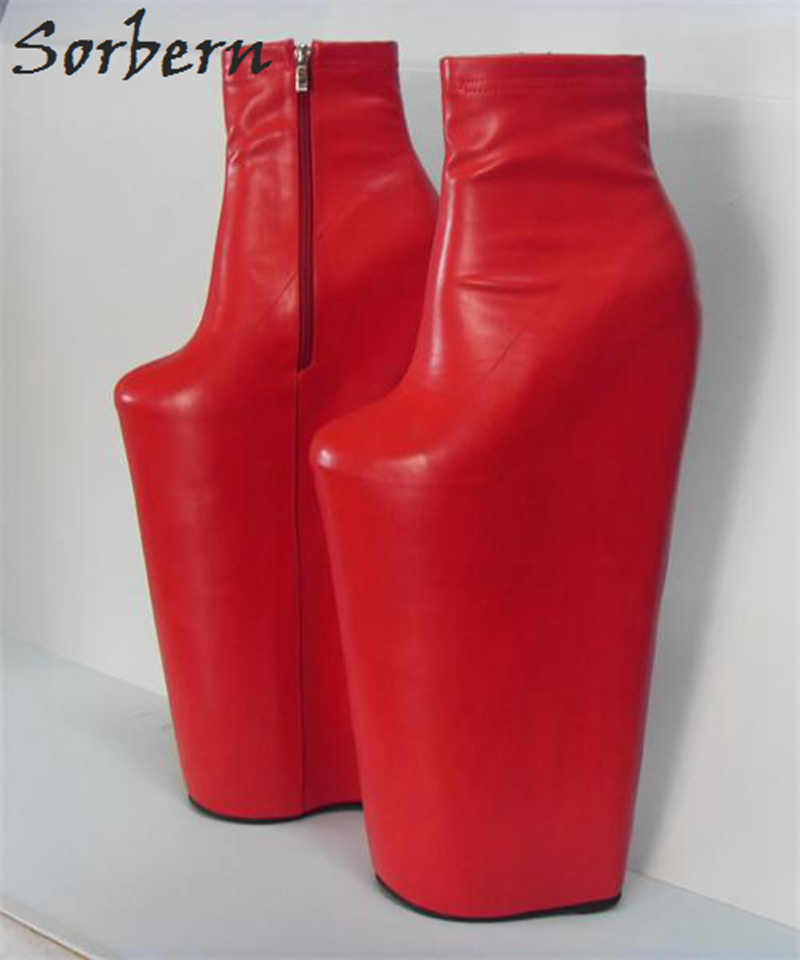 e1e017f0674 Detail Feedback Questions about Sorbern Red 40Cm High Heel Short ...