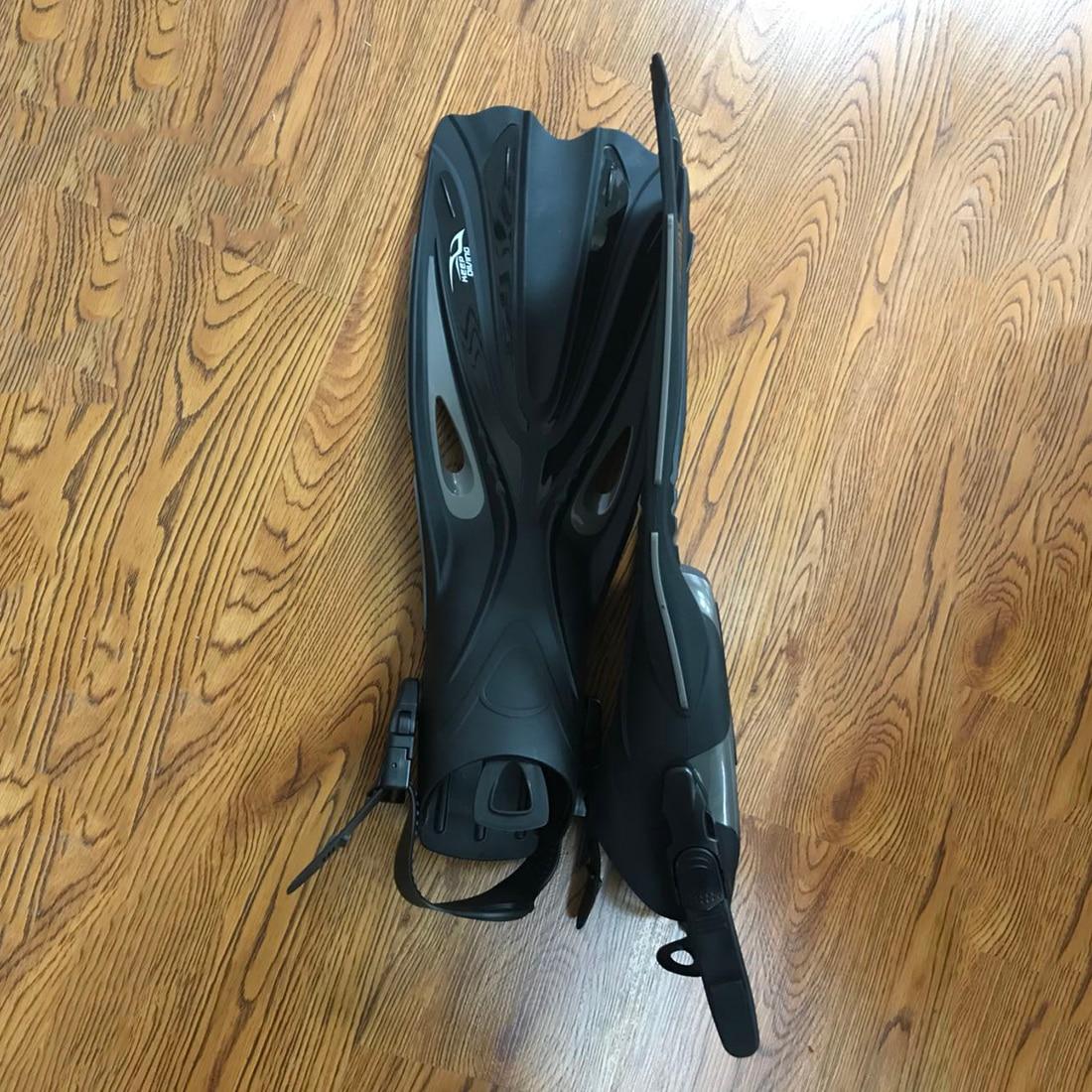 Garder la plongée à talon ouvert plongée sous-marine longues palmes réglables plongée en apnée nageoires spéciales pour les bottes de plongée chaussures - 3