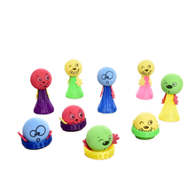 Spring Catapult Toy EVA Jumping Bounce Elf Cartoon Cute Expression Anti Stress Relief Novelty Funny Gag Toys for Children Kids cylindrical ferrofluid anti stress toys magnetic liquid ferrofluid liquid display funny novelty gag toy kids children play fun