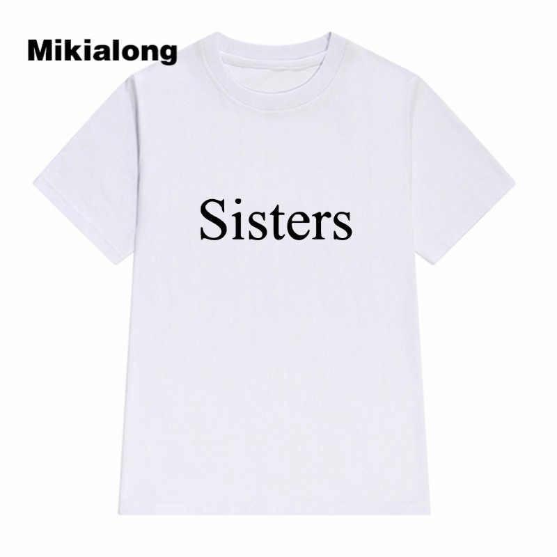 28422f0ca33 ... 2018 Best Friends T Shirt SISTER Printed Tumblr T-shirt Women T Shirt  Hipster Rave ...