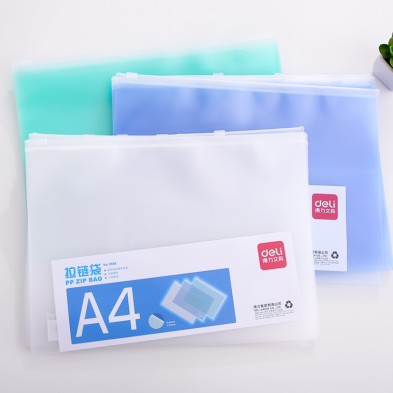 10pcs/lot File Folder A5/A4 PVC Zipper Bag Waterproof Document Classified Storage Stationery File Holder Office School