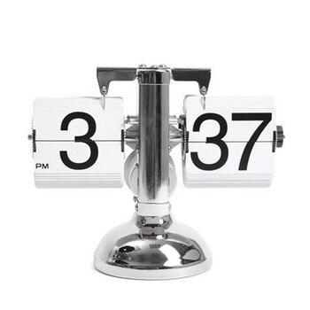 Creative Auto Numérique Quartz Flip Page Tournant à Petite échelle Table Horloge Bureau Mécanisme Calendrier Pour La Décoration De La Maison Noir/blanc