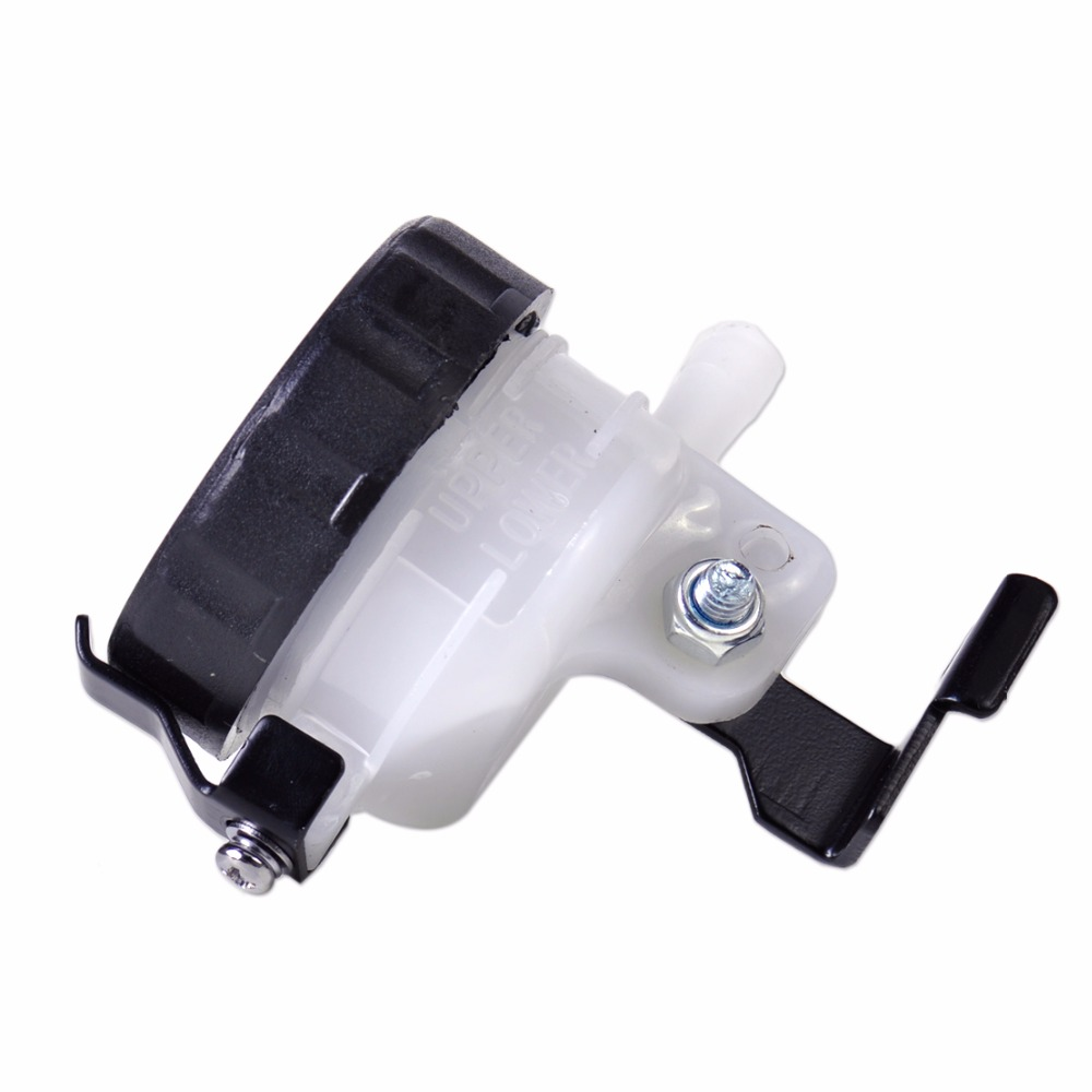 DWCX New Motorcycle Front Brake Reservoir Fluid Bottle Master Cylinder Oil Cup For Harley Bobber Chopper Yamaha Suzuki Kawasaki magnum black pearl upper front brake line 33 90 for harley