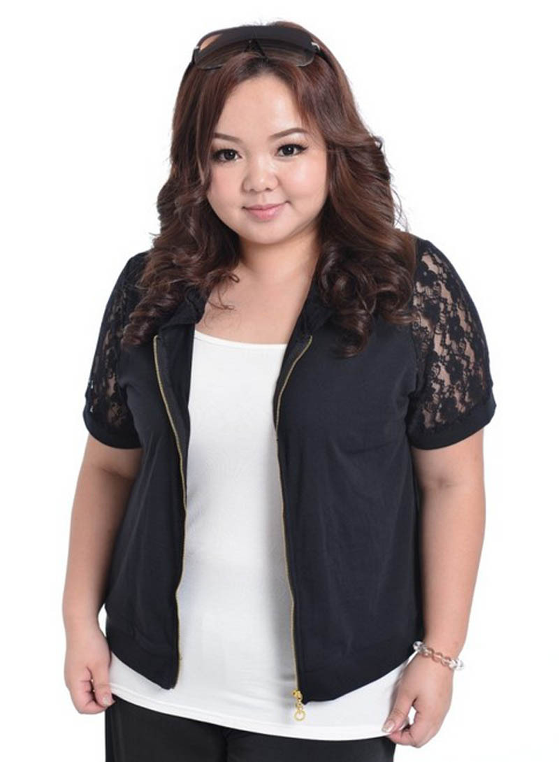 plus Size Lace Short Sleeve Cardigan big Size Cover Coat for Women ...