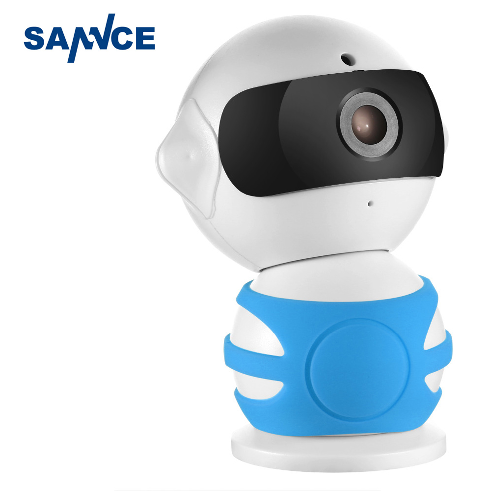 SANNCE Robot IP Camera 960P WiFi Wireless IP Camera CCTV Security Camera Two Way Audio Baby Monitor Easy QR CODE Scan Connect wifi wireless 720p ip camera wifi ip camera two way audio baby monitor pan tilt security camera easy qr code scan connect