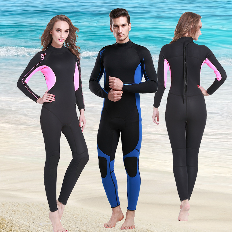 High Quality 3MM Rubber Wetsuit Warm Winter Swimming Jellyfish Thicker Long-sleeved Clothing Piece Swimsuit