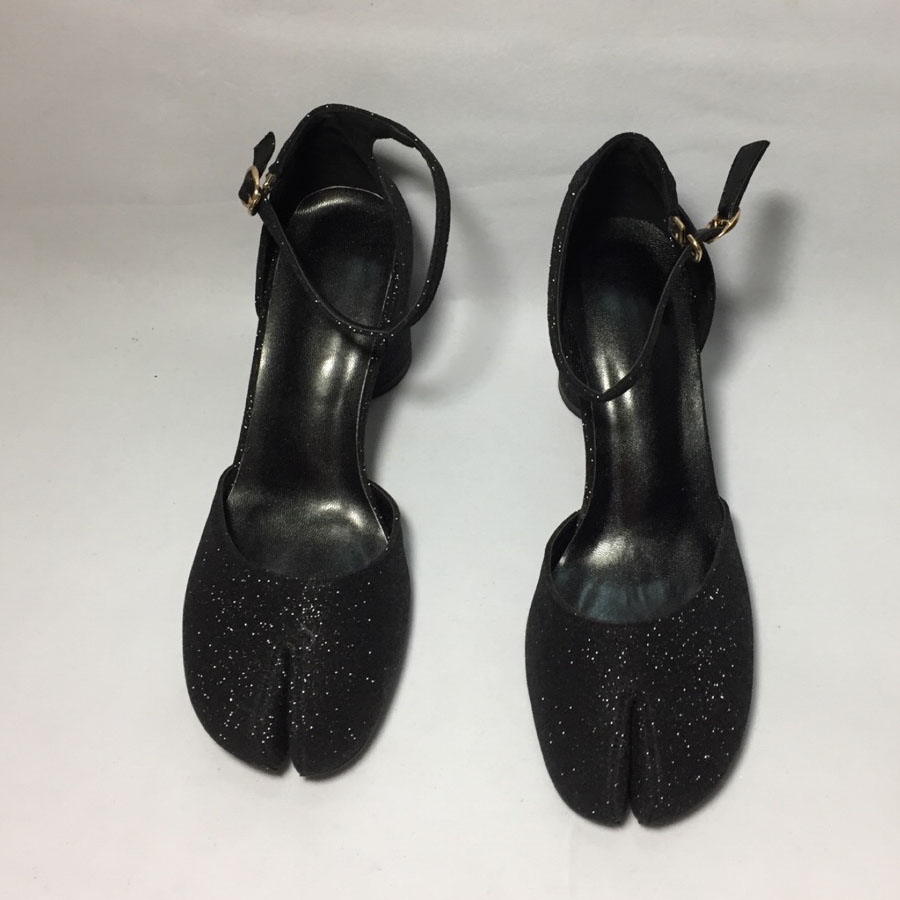 Prova Hebilla Correa Charol Leather Ninjia Patent Moda Tobillo Tacón Solo pink Zapato Baja Black Zapatos De black Mujeres Las Dedo Grueso Perfetto 0qpYr0