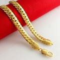 Chunky Chain Herringbone  Yellow Gold Filled Mens Necklace Chain