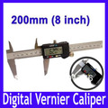 "8 ""200mm de metal medio Digital CALIBRE VERNIER MICRÓMETRO vernier caliper MOQ = 1"