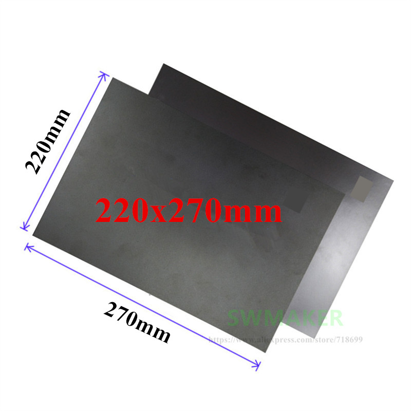 1set 3d Printer Part 200x200mm Heatbed Magnetic Adhesive Sticker Flex Build Plate 2a+b Pc Insulation Film Kit High Quality Goods Computer & Office