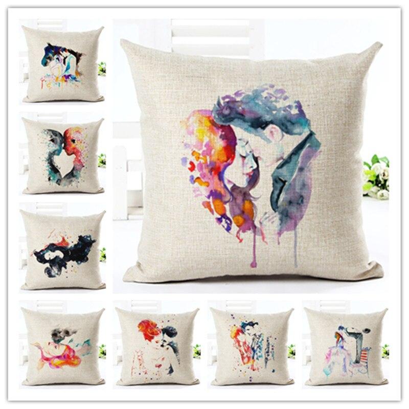 ∞2016 New Arrival Creative Fashion Romantic Lovers Pillow Cushion