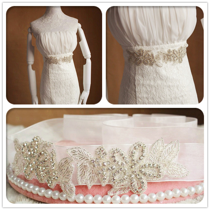 Bridal Blets Sporting Ayicuthia Hand Beaded Wedding Belt Silver Crystal Rhinestones Ribbons Bridal Belt And Sash For Wedding Party Porm Gown Y47 To Enjoy High Reputation In The International Market Weddings & Events