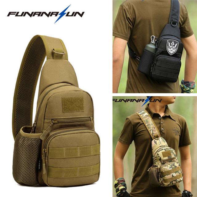 Tactical Molle Portable Bag Military Crossbody Chest Pack Shoulder Sling  Waterproof Backpack for Hiking Cycling Climbing Camping 33cc88c5f5bc6