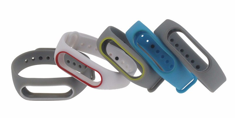 New Xiaomi Mi Band 2 Bracelet Strap Miband 2 Colorful Strap Wristband Replacement Smart Band Accessories For Mi Band 2 Silicone 19