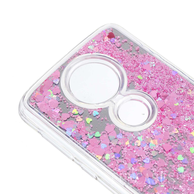 Зеркало с песком чехол для телефона для Moto E5 плюс пар глянцевый защитный чехол для телефона из мягкой искусственной кожи (термополиуретан) крышка-чехол для Moto E5 Plus Fundas