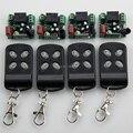 Ac220v 1CH sistema de controle remoto sem fio remoto portão teleswitch 4 transmissor e 4 receptor universal receptor de controle / radio