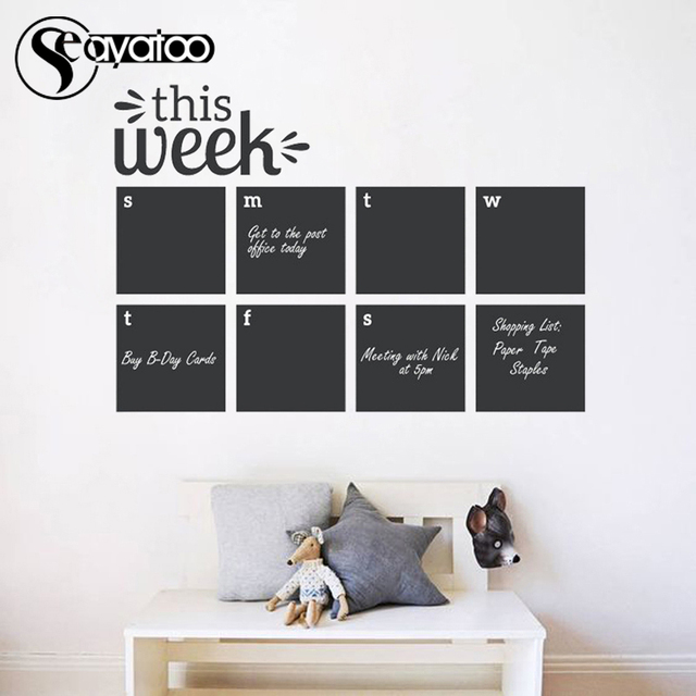 this week erasable blackboard chalkboard weekly calendar planner