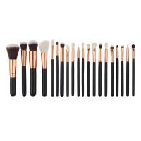 Brand 20 Pcs Beauty Bamboo Professional Makeup Brushes Set Make Up Brush Tools Kit Foundation Powder