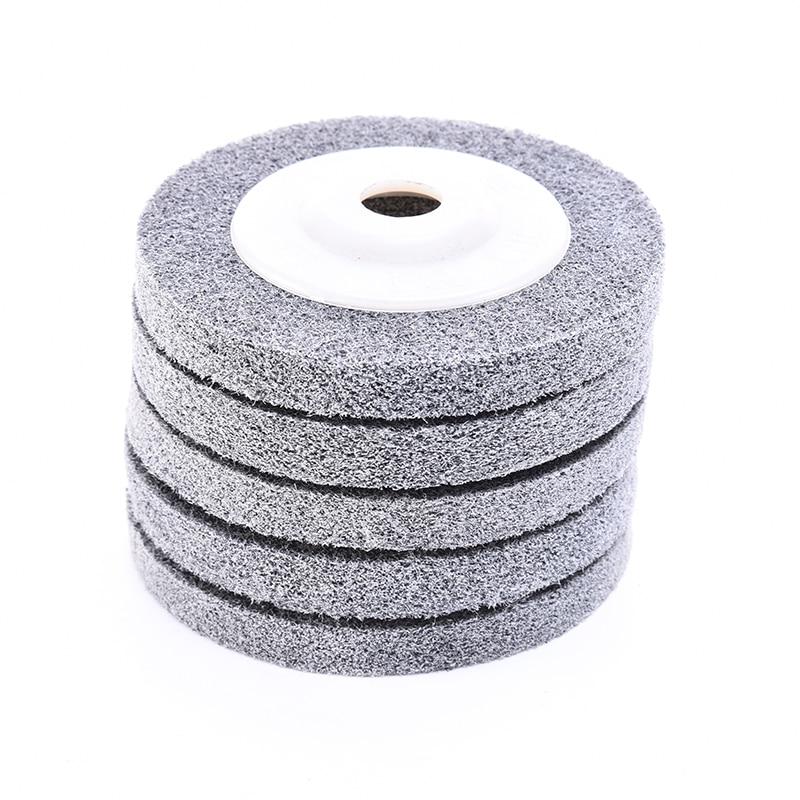 Nylon Grinding Disc 180# Flap Wheel For Metal Finish Wood Polishing On Angle Grinder 100*12*16mm