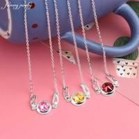 Sailor Moon Cosplay Card Captor Sakura 925 Sterling Silver Sakuragi Red Star Seal Pendant Necklace Cardcaptor