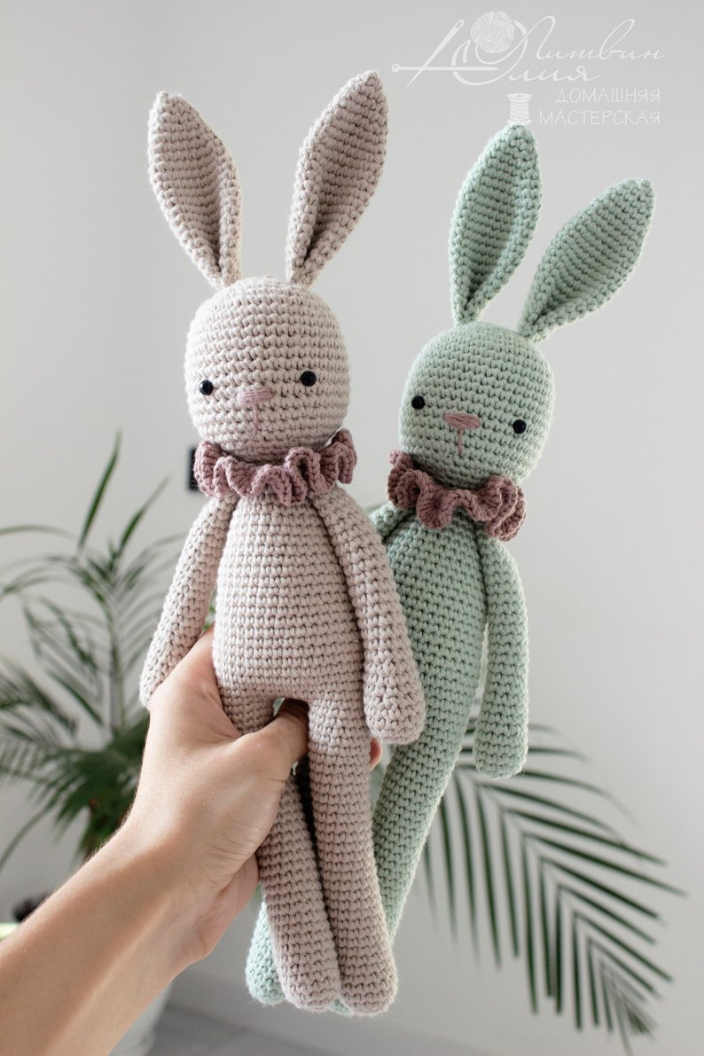 Crochet Toys Crochet  Amigurumi  Doll   Cute  Bunny  Model    Number TS041327