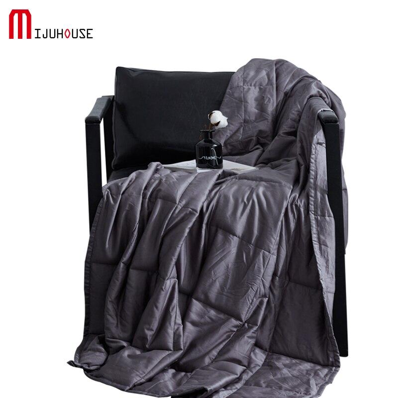 100% хлопок утяжеленное одеяло декомпрессия улучшает облегчение сна тревога тяжести одеяло для взрослых одеяло тяжелое одеяло