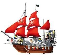 Завод продаж пираты карибского моря Месть Королевы анны большой корабль Строительные Блоки Рождественский Подарок игрушки