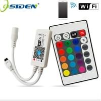 Wifi LED RGB / RGBW Controler DC12V MIni Wifi + IR 24 Key Remote Controller for RGB / RGBW LED Strip