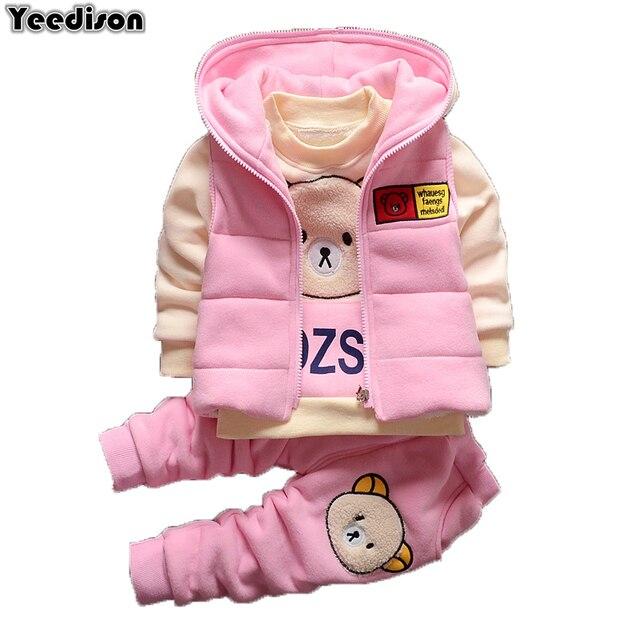 e0bc0a2fd 2018 Toddler Girl Clothes Autumn Winter Warm Children Clothing Set ...