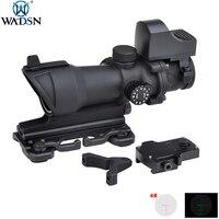 WADSN тактический прицел для винтовки для охоты сетка Точка Прицел ACOG 4X32 красный/зеленый с QD креплением мини RedDot прицел для стрельбы AO5321