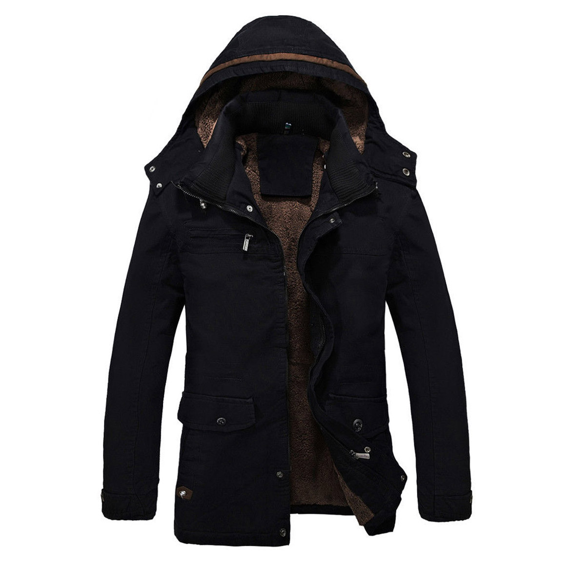 2016 new men's fashion casual hooded winter coat Male Plus thickening warm  cotton-padded jacket - Compare Prices On Mens Fur Lined Parka- Online Shopping/Buy Low