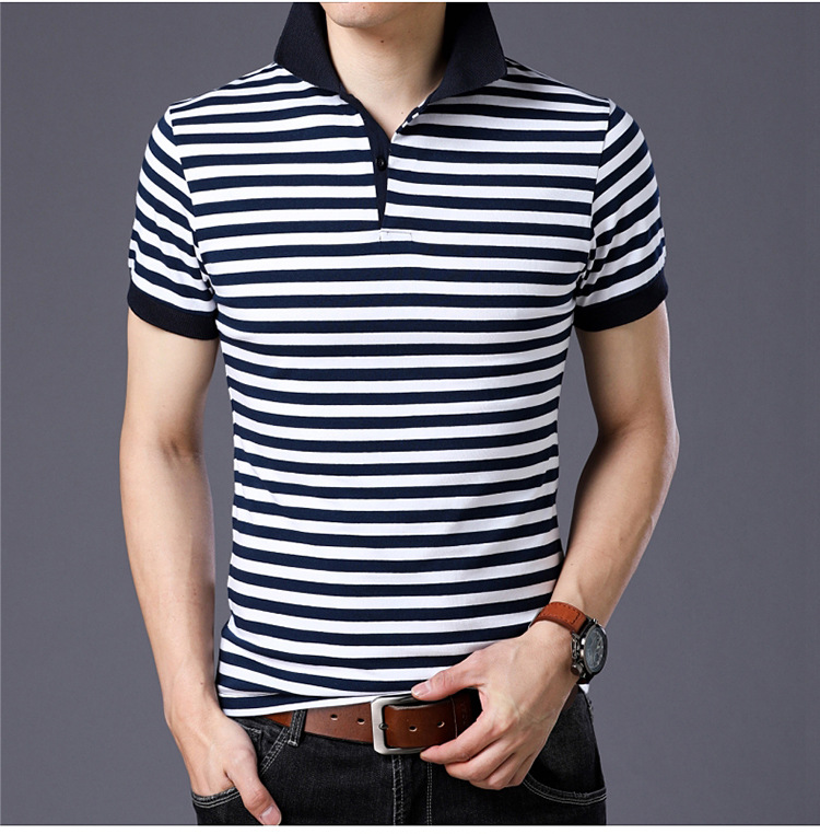 Brand Design Men   Polo   Shirt 2019 New Summer Business Fashion Breathable Striped Short Sleeve   Polo   Shirt Clothes