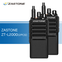 2pcs/lot Zastone L2000 Walkie Talkies UHF 400-480MHz Two Way Radio 20W Ham CB Radio Portable Walkie-talkies Transceiver