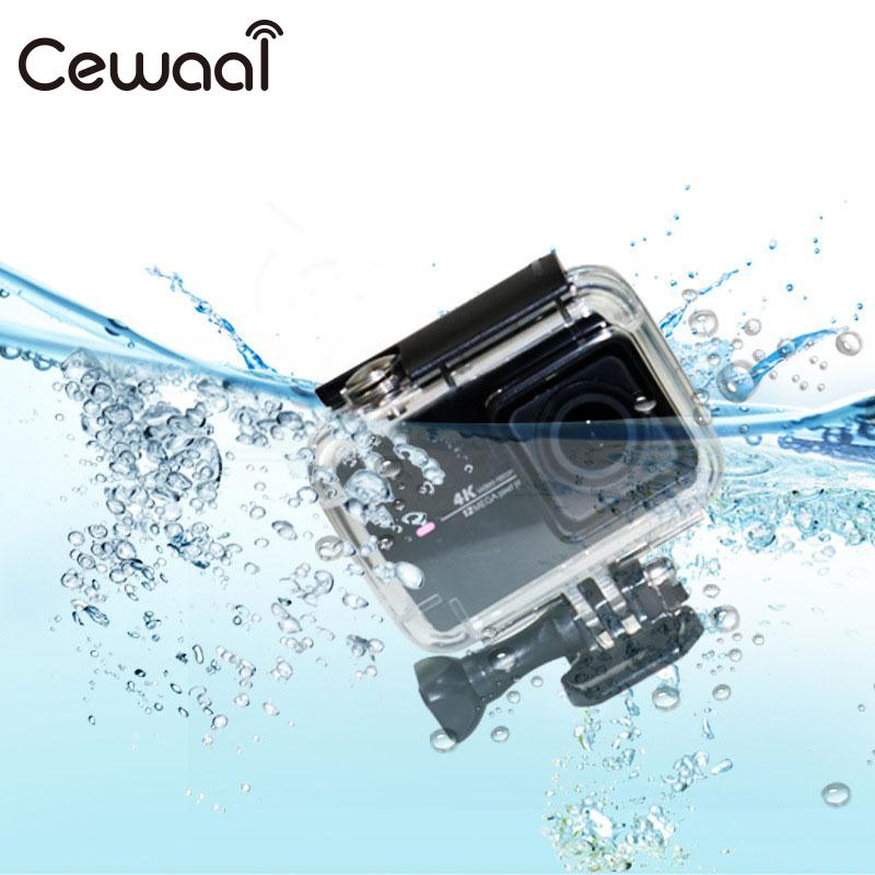 Cewaal 1 Pcs Black Protective Shell Protective Cover Waterproof Case For XiaoYi Action Sport Camera Box Diving 30 Meter deep