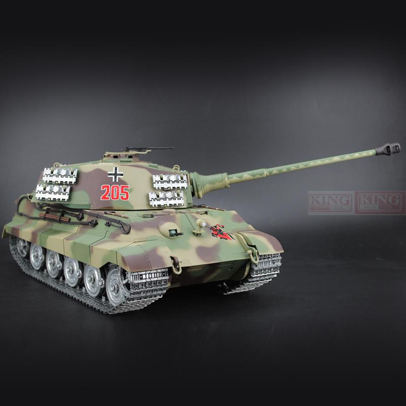 цена 1/16 scale 2.4GHz R/C Battle Tank Henschel Turret German King Tiger Ultimate metal version Smoke Sound Metal Gear and Tracks
