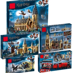 Harri Potter Movie Castle Hall 39144 39145 39146 39149 39150 Compatible With Legoinglys Model Building Block Bricks Toys No Box