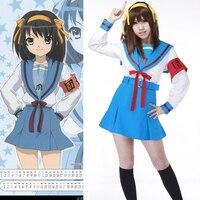 f29c18e37 ... Vestido Fantasia Do Dia Das Bruxas. US  41.80 US  25.92. Anime Suzumiya  Haruhi No Yuuutsu Cosplay Suzumiya Haruhi Costumes Women Girl Hallowmas ...