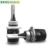 YHKOMS H4 H7 9005 9006 CSP רכב אור LED H1 H3 H8 H9 H11 ערפל אור אוטומטי פנס 24 W 3600LM היי נמוך Beam מנורת 6000 K 12 V 24 V
